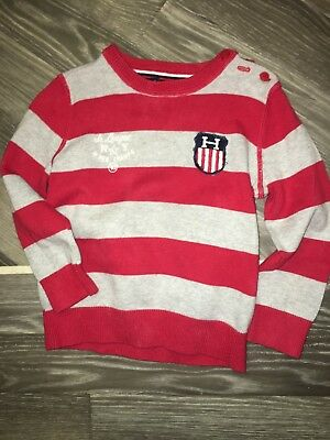 Tommy Hilfiger Baby Boys Striped Jumper Excellent Conditon Size 18-24 Months