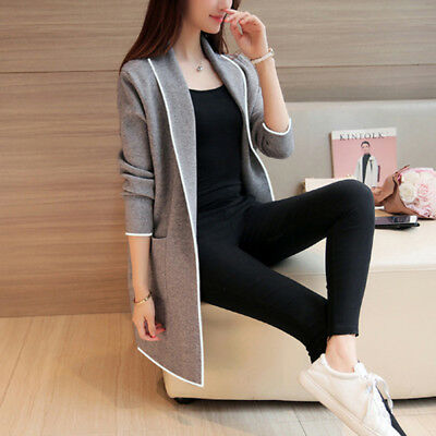 Spring Female Trench Casual Turn Down Collar Medium Cardigan Outerwear Coat 6A