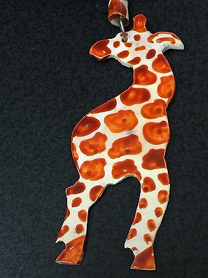 African Giraffe Free Trade Painted Bone Double Sided Charms Only No Necklace *9*