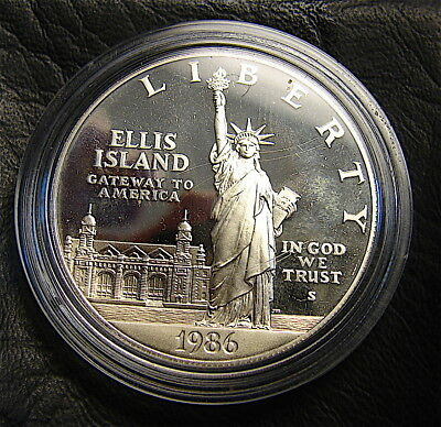 1986-S~~~Statue Of Liberty Proof Silver Dollar~~~.900 Silver Coin~~FREE SHIP