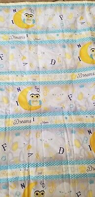 Quilt handmade crib 37x43 blue and yellow boy or girl brand new condition