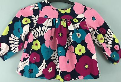 BABY GAP bright floral cord top 18-24 months