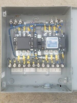 Telemechanique Size 1 motor reversing and starter contactor in NEMA 1 Enclosure