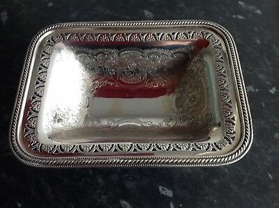 An antique  silver plated pedestal footed dish