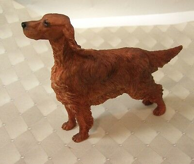 """Vintage RED IRISH SETTER Resin Figure- 5"""" Long & 3 3/4"""" High-Ears in the Wind"""
