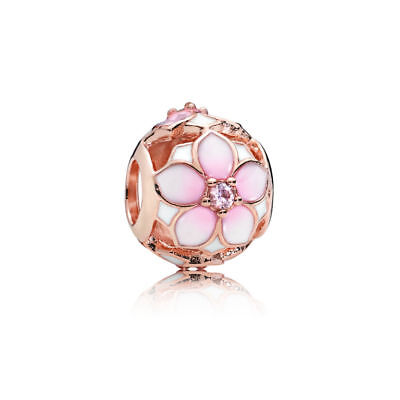 a19c687b0 New Authentic Pandora Rose Magnolia Bloom Charm Pink Enamel cz 782087NBP