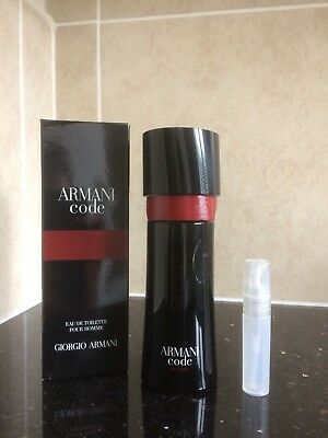 Giorgio Armani Code A List For Men Edt In A New 5ml Atomiser 499