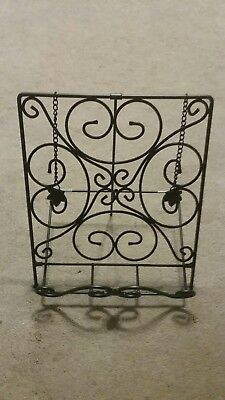 Longaberger Wrought Iron Cookbook Holder Stand Metalworks #71420 NEW in Box