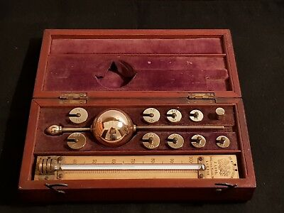 Sikes Hydrometer by Joseph Long in Mahogany [1820-1884]