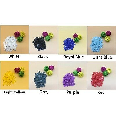 Set T5 Plastic Resin Snap Button Fastener Clips For Cloth Diaper Craft Parts New