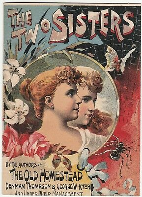 RARE Advertising Booklet 1888 Broadway NY Play  Two Sisters - Thompson & Ryer
