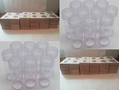 Penny Protector Set 100 penny Coin Tubes with 1000 Mylar coin Flips for Pennies