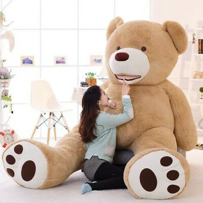 "78"" 200cm Brown Giant Skin Teddy Bear COVER ONLY Big Stuffed Toy Christmas Gift"