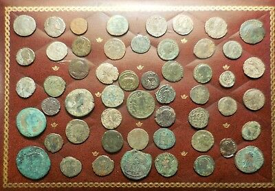 "Lot of about 53 Ancient Roman Coins, Mostly ""Fine"" to VF, Two She Wolfs & Twins!"