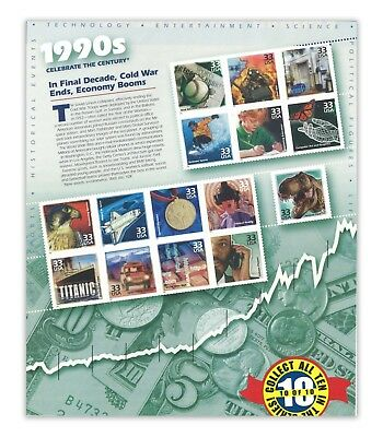 USA 1998 Celebrate the Century 1990s No.10 In A Series of Ten Sheets Stamps MUH