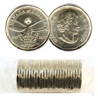 Canada 2017 100th Anniversary of the Toronto Maple Leafs Loonie roll $1