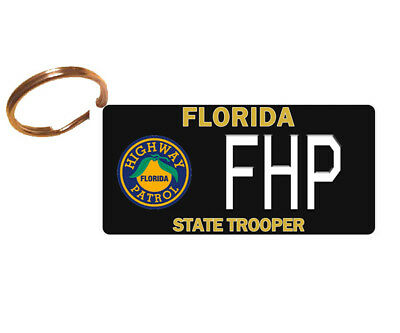 PERSONALIZED Florida FL Highway Patrol License Plate Keychain or Magnet