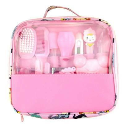 Baby Kids Child Health Care Groom Set Brush Nail Hair Thermometer Kit Pink Gift