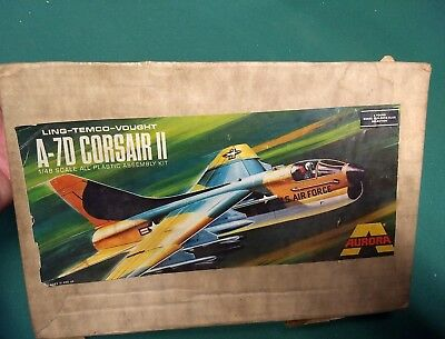 Young Model Builders Club A-7D Corsair II Airplane Model Kit 1976 Unopened