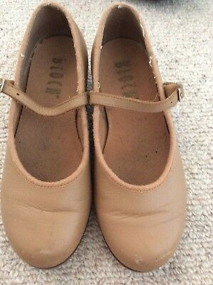 Girls Tan Bloch Tap Shoes Size 12
