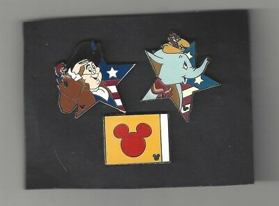PIN BADGE SMALL LOT OF official DISNEY TRADING PINS Mickey Dumbo +
