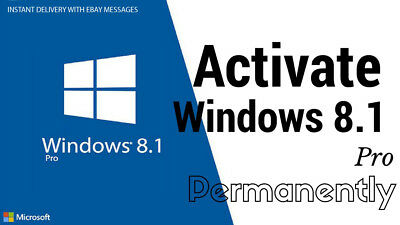 MICROSOFT WINDOWS 8.1 PRO 32 / 64 BIT || Original Key Activation