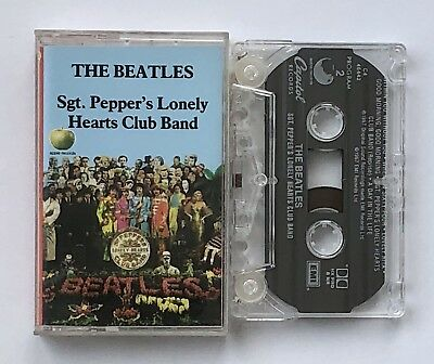 THE BEATLES Sgt. Pepper's Lonely Hearts Club Band CASSETTE TAPE