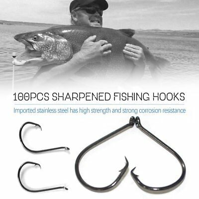 100pcs/Set Sharpened Octopus Circle Fishing Hooks Effective Fishing Tackle C&