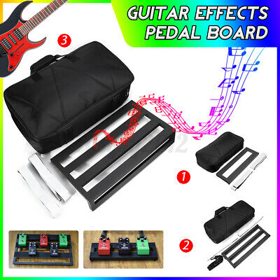 Alloy Pedalboards Effects Pedal Board Cases Electric Guitar w/ Tape Storage Bag