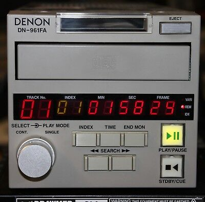 Denon Dn-961Fa Broadcast Cd Player Tested/works Great/clean Face!