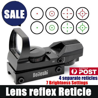 Optics Compact Reflex Red Green Dot Sight Scope 4 Reticle for Hunting  SI
