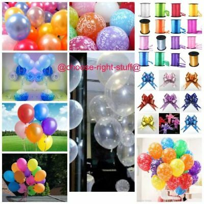 10-100 PEARL Metallic Helium Air Quality Party Birthday Wedding Balloons Baloons