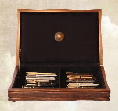 Fountain Pen Storage Display Chest, #665, Hand-Crafted, Mahogany,  22 Pens, Usa