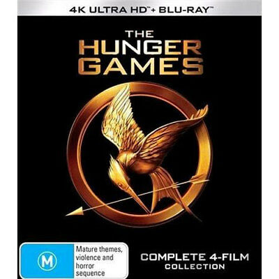 Hunger Games / Catching Fire / Mockingjay Part 1 & Part 2) (4K UHD/Blu-ray) NEW