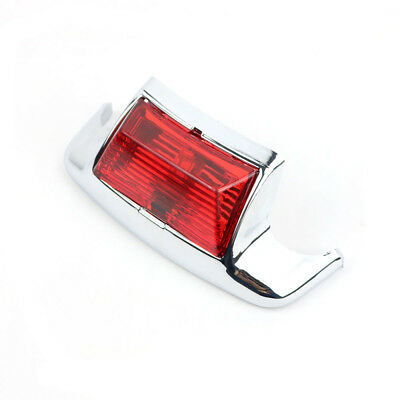1x Rear Fender Tip Light Mudguards for Harley Heritage Softail Electra Glide Red