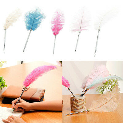 Vintage Feather Calligraphy Ball Pen Wedding Guest Signing Pen Table Decorations