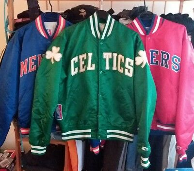 Jacket Veste Vintage Boston Starter Nba L Celtics Satin CCv0Pqw
