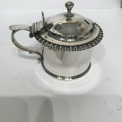 VICTORIAN SILVER MUSTARD POT - LONDON -1837 by WILLIAM EATON