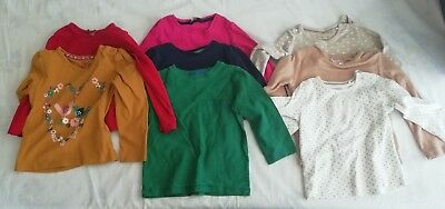 Girls Clothing - 12-24 months - 8 x Long Sleeved Tops