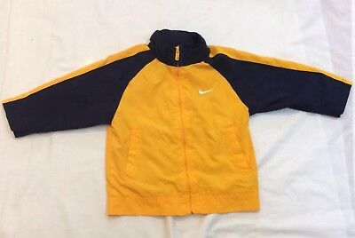 Children's Blue & Yellow Hooded Jacket  (NIKE),  Size 2