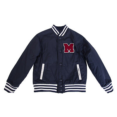 MSGM Varsity Jacket Size 6Y Padded Letter Patch Made in Italy RRP €309
