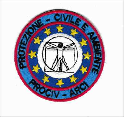 patch PROCIV ARCI PROTECTION AND CIVIL AMBIENT 8 cm diameter embroidery -822