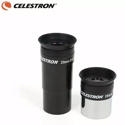 Celestron 20mm Erecting (Correct Image) & 10mm Eyepieces 1.25 Inch For Telescope