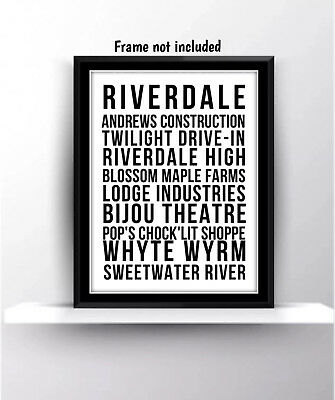 Riverdale Quotes Tv Series Show Poster Print Wall Decor Fan Gift Betty Jughead