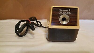 Panasonic Auto Stop Electric Pencil Sharpener Model Kp-100 100W Made In Japan