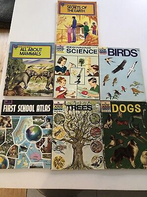 4 X How & Why Wonder Books & 2 Know Our World books - Very Food Condition