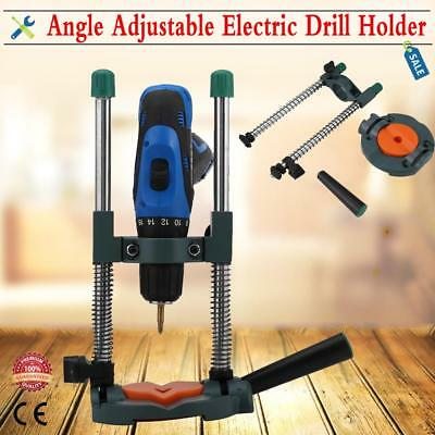 Electric Drill Guide Stand 45° Angle Adjustable ∅ 43mm Mobile Drill Holder Base