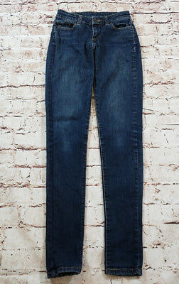 b22a38a71c44 LEVIS 421 SKINNY Distressed Ultra Low Stretch Jeans Juniors Size 3 ...