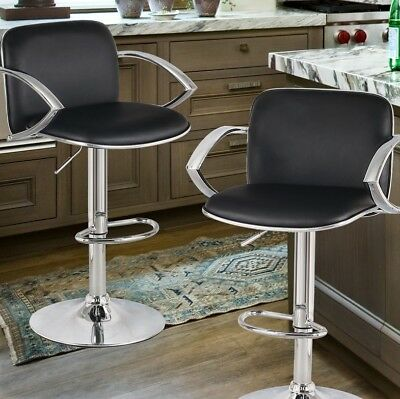 Remarkable Adeco Trading Adjustable Height Swivel Bar Stool Set Of 2 Gmtry Best Dining Table And Chair Ideas Images Gmtryco