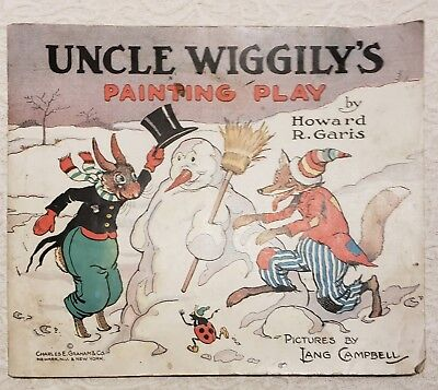 Rare Uncle Wiggily's Painting Play Vintage Coloring / Story Book (1924)